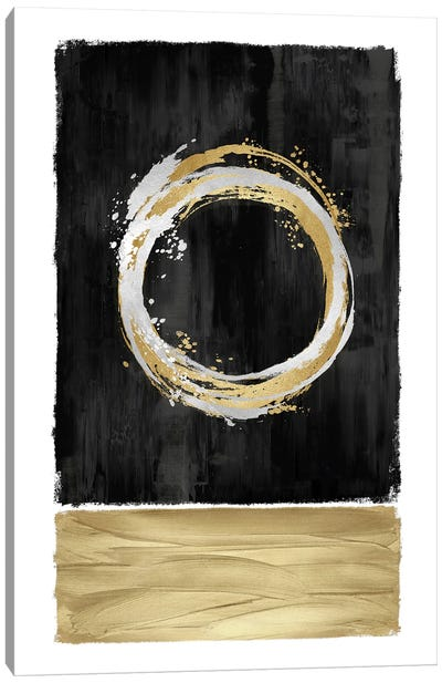 Inward Black II Canvas Art Print