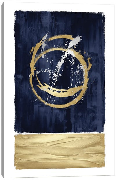 Inward Blue I Canvas Art Print
