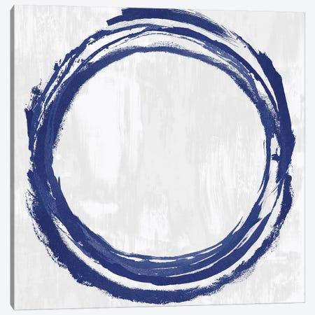 Circle Blue II Canvas Print #NHS4} by Natalie Harris Canvas Art Print