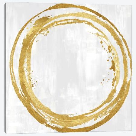 Circle Gold I Canvas Print #NHS5} by Natalie Harris Canvas Print