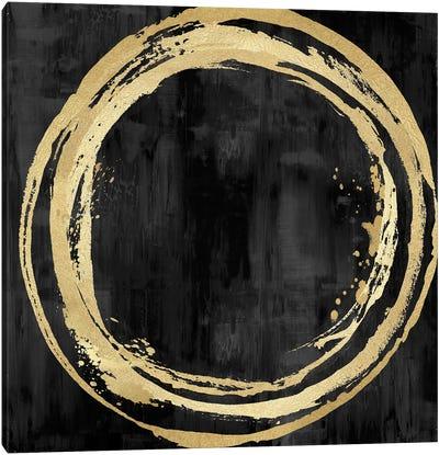 Circle Gold On Black I Canvas Art Print