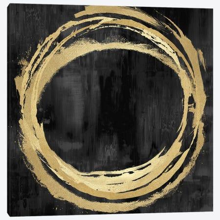 Circle Gold On Black II Canvas Print #NHS8} by Natalie Harris Canvas Artwork