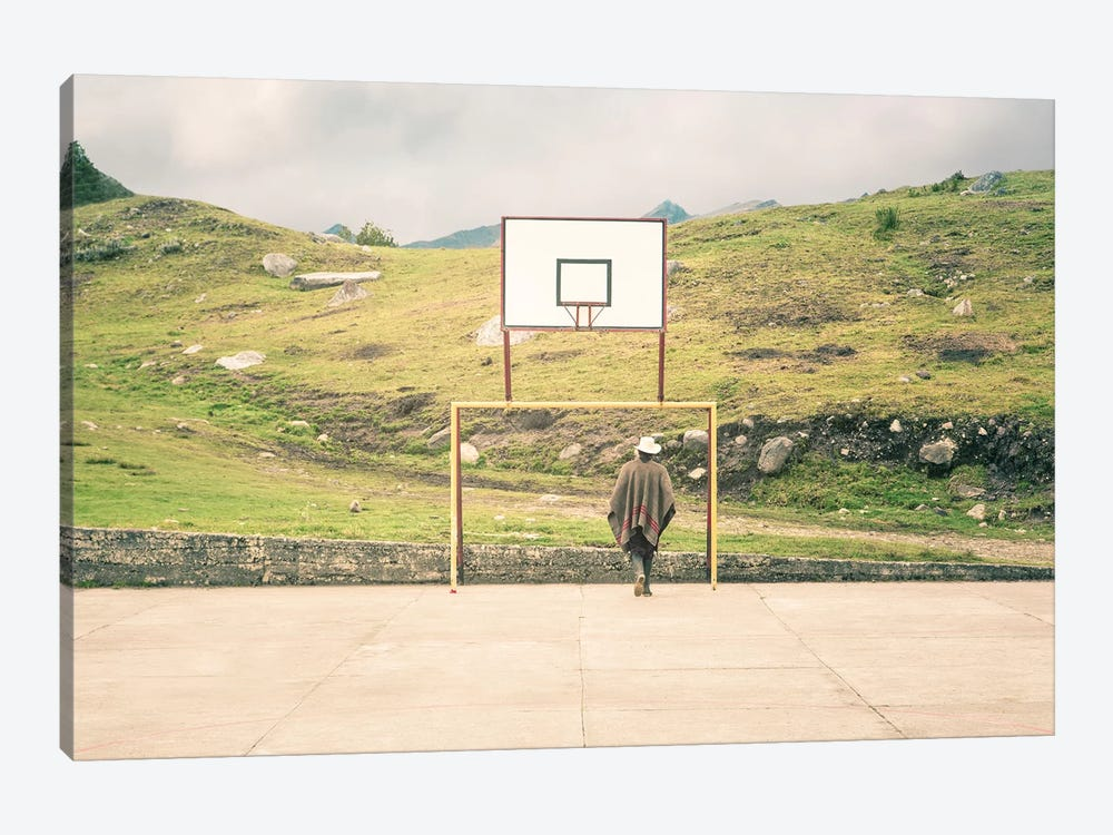 Streetball Courts 2 El Cocuy, Colombia by Joe Mania 1-piece Canvas Art Print