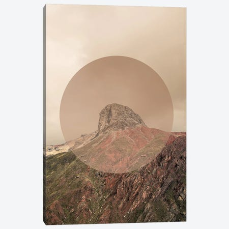 Landscapes Circular 2  Andes (Beige Circle) Canvas Print #NIA10} by Joe Mania Canvas Art