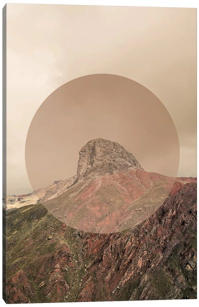Landscapes Circular 2  Andes (Beige Circle) Canvas Art Print