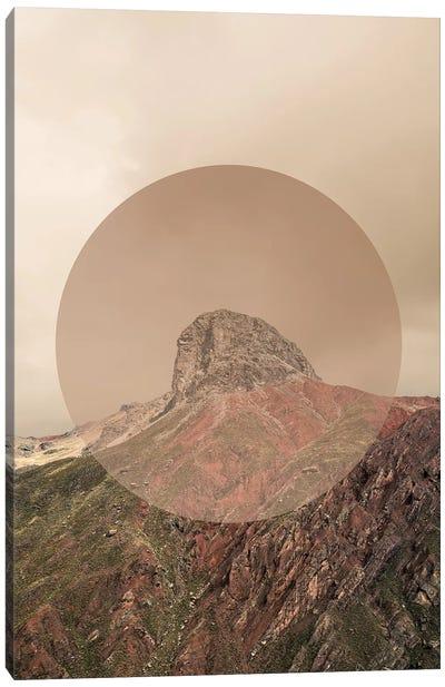 Landscapes Circular 2  Andes (Beige Circle) Canvas Art Print