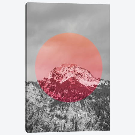 Landscapes Circular 2  Chacaltaya (Pink Circle) Canvas Print #NIA11} by Joe Mania Canvas Art