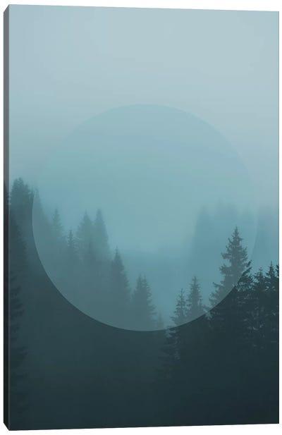 Landscapes Circular 2  Karwendel (Turquoise Circle) Canvas Art Print