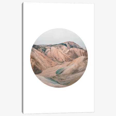 Landscapes Circular 3  Landmannalaugar Canvas Print #NIA15} by Joe Mania Canvas Print