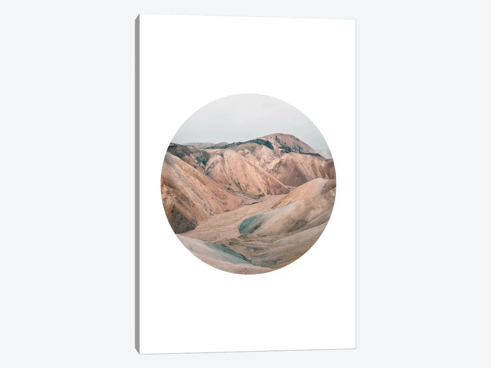 Landscapes Circular 3  Landmannalaugar by Joe Mania 1-piece Canvas Print