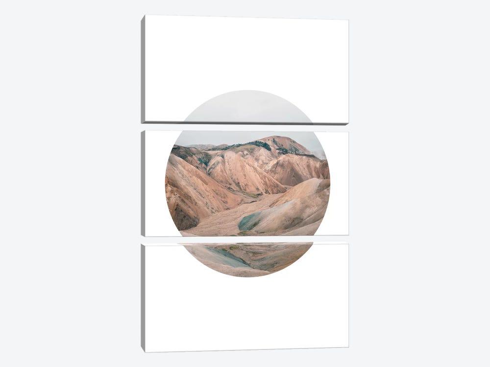 Landscapes Circular 3  Landmannalaugar by Joe Mania 3-piece Canvas Print