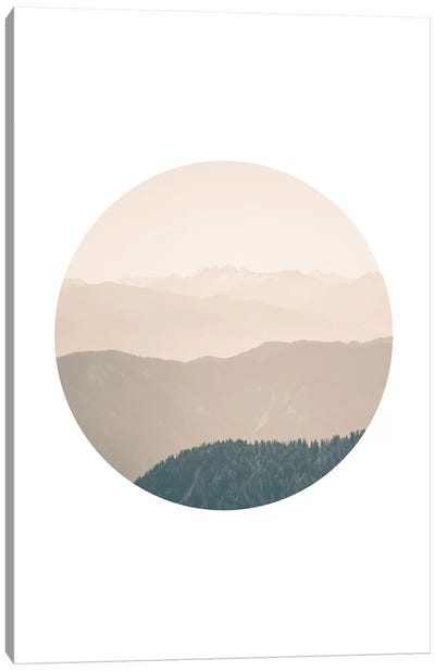 Landscapes Circular 4  Karwendel Canvas Art Print