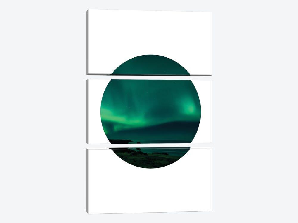 Landscapes Circular 4  Skardsvik by Joe Mania 3-piece Canvas Art Print