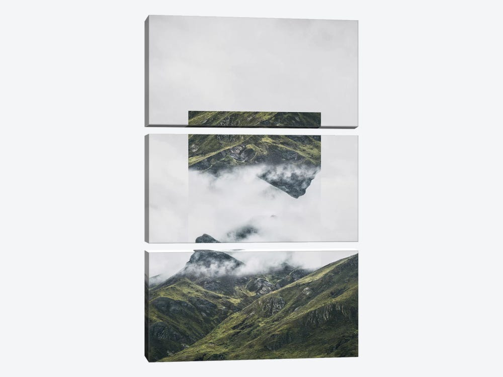 Landscapes Mirrored 1 Andes by Joe Mania 3-piece Canvas Wall Art