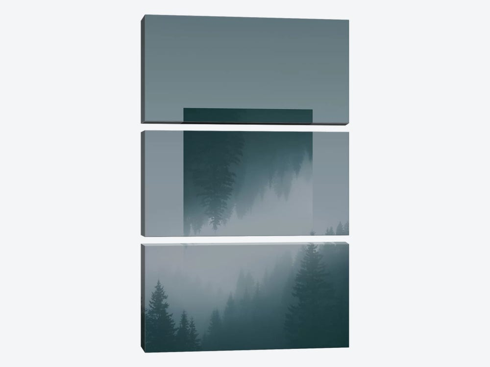 Landscapes Mirrored 1 Karwendel by Joe Mania 3-piece Canvas Wall Art