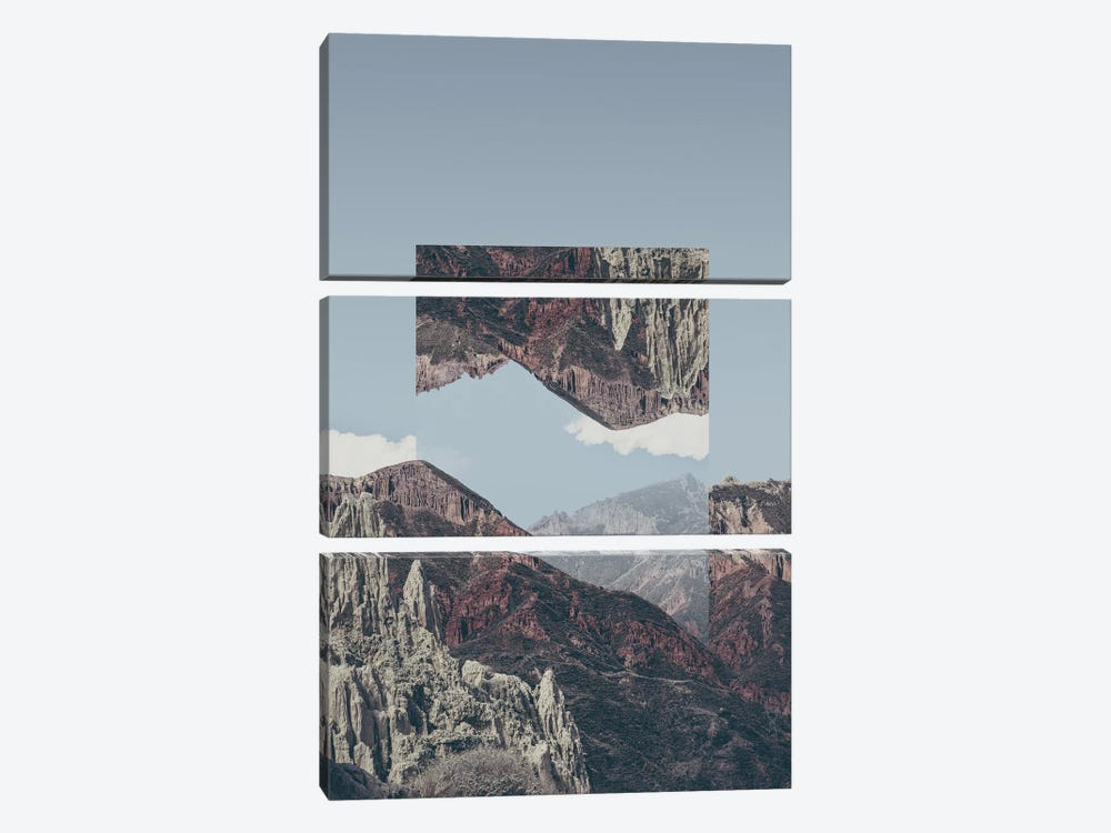 Landscapes Mirrored 2 Chacaltaya by Joe Mania 3-piece Canvas Art
