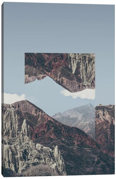 Landscapes Mirrored 2 Chacaltaya Canvas Art Print
