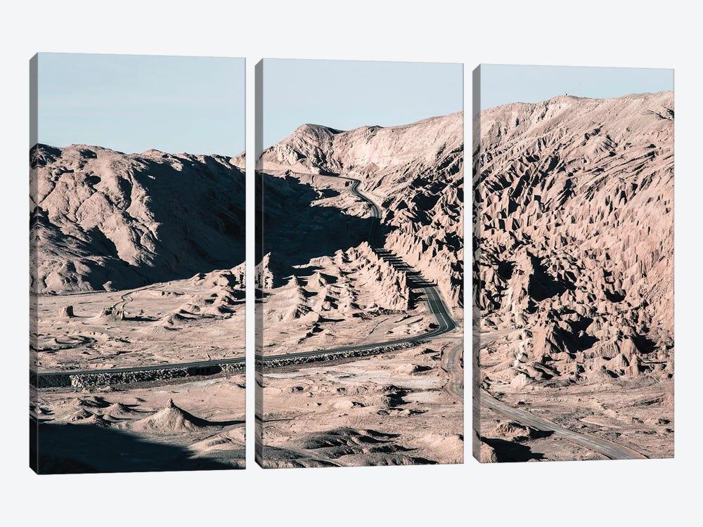 Landscapes Raw 1 Valle de la Luna, Chile by Joe Mania 3-piece Canvas Art Print