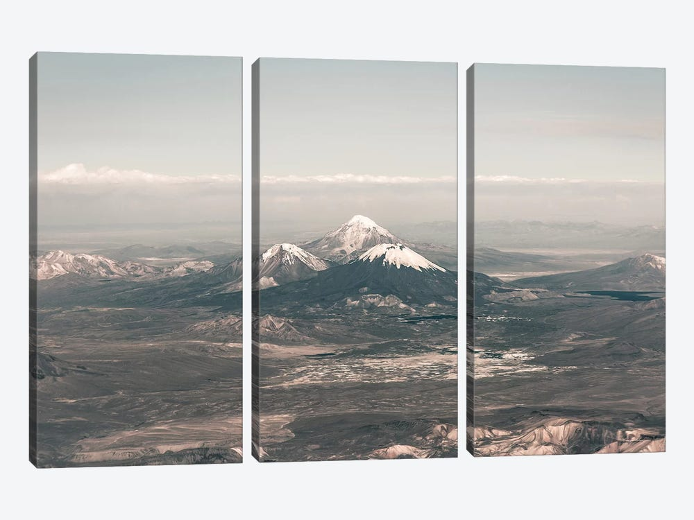 Landscapes Raw 2 Andes, Chile by Joe Mania 3-piece Canvas Art Print