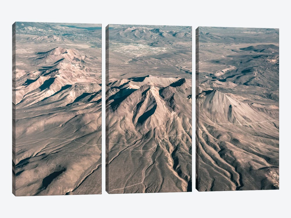 Landscapes Raw 3 Andes, Chile by Joe Mania 3-piece Art Print