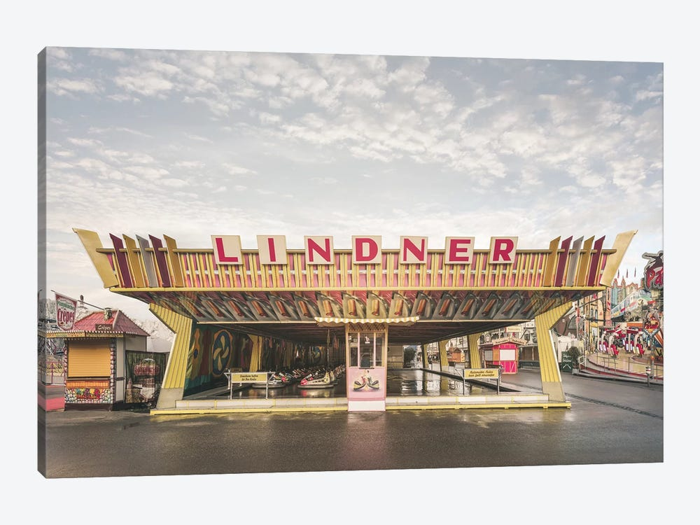 Bumper Cars 1  Lindner by Joe Mania 1-piece Canvas Wall Art