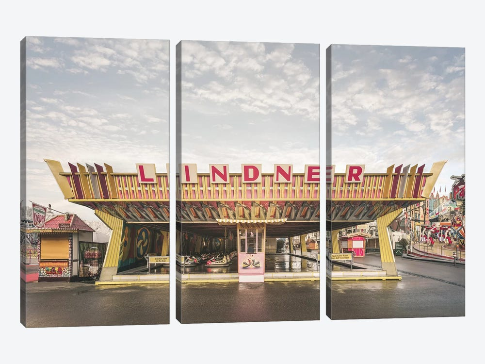 Bumper Cars 1  Lindner by Joe Mania 3-piece Canvas Artwork
