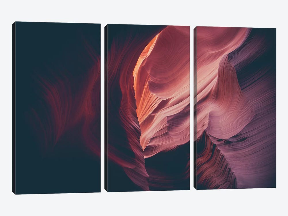 Landscapes Raw 4 Antelope Canyon, USA by Joe Mania 3-piece Canvas Art