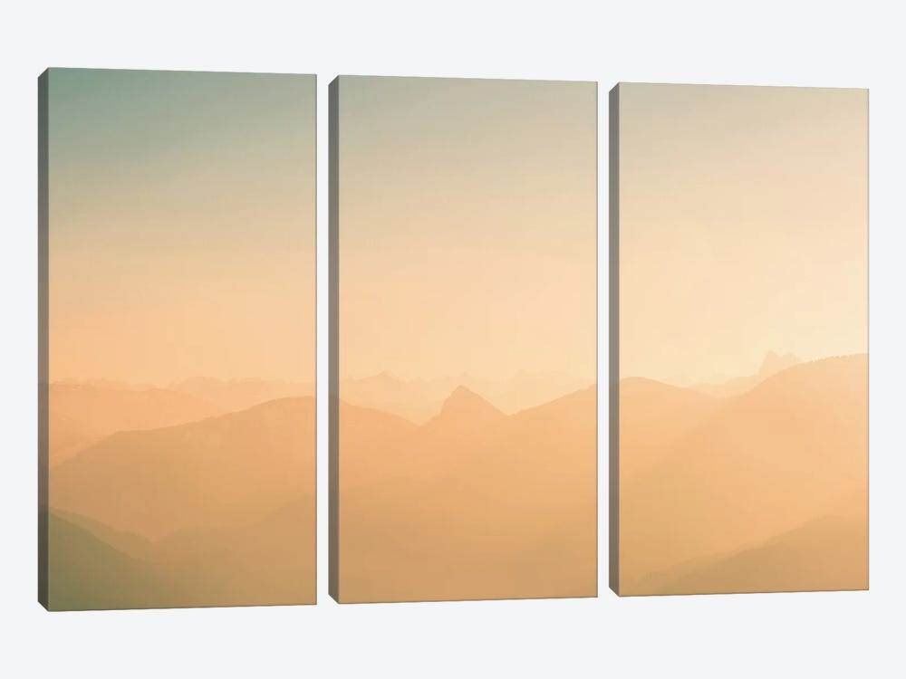 Landscapes Raw 4 Riederstein, Germany by Joe Mania 3-piece Canvas Wall Art