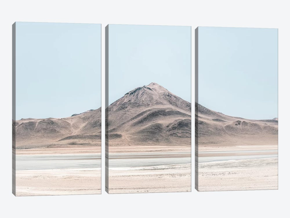 Landscapes Raw 5 Salar de Uyuni, Bolivia by Joe Mania 3-piece Canvas Print