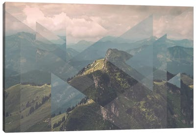 Landscapes Scattered 1 Alps Canvas Art Print