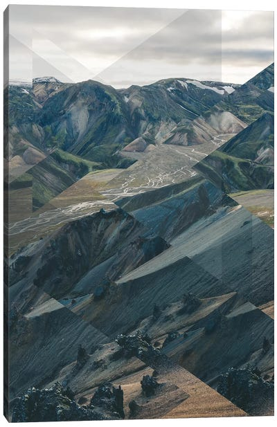 Landscapes Scattered 3 Landmannalaugar Canvas Art Print