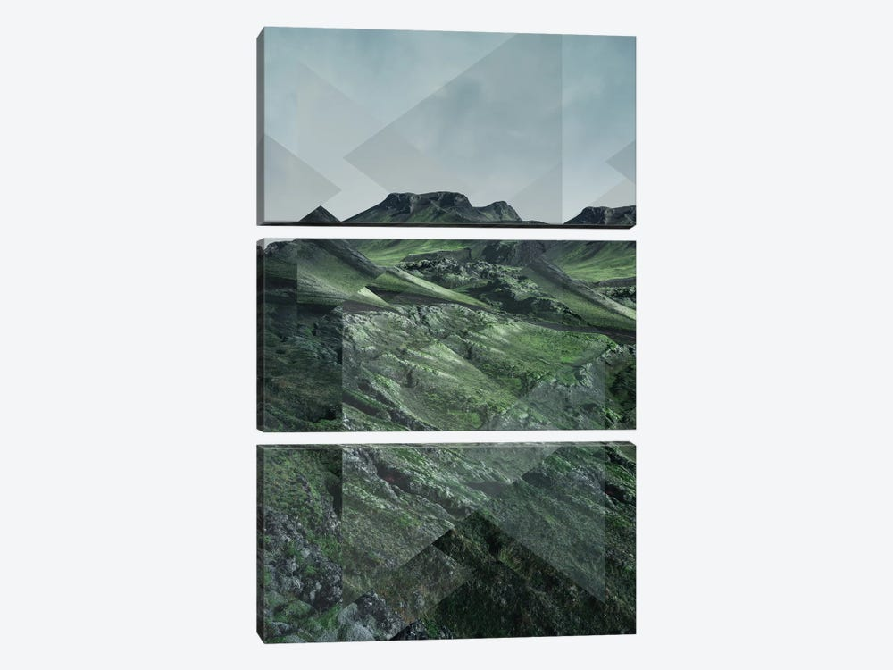 Landscapes Scattered 3 Thorsmörk by Joe Mania 3-piece Art Print