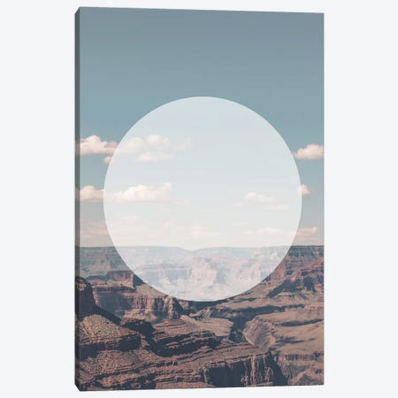 Landscapes Circular 1  Grand Canyon (White Circle) Canvas Print #NIA6} by Joe Mania Canvas Art Print