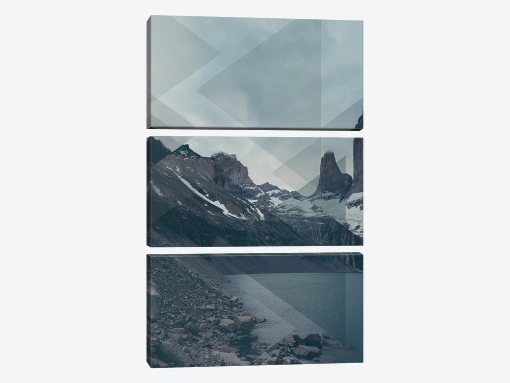 Landscapes Scattered 4 Torres del Paine by Joe Mania 3-piece Canvas Artwork