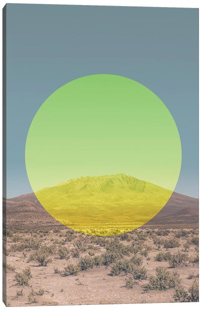 Landscapes Circular 1  Salar de Uyuni (Yellow Circle) Canvas Art Print