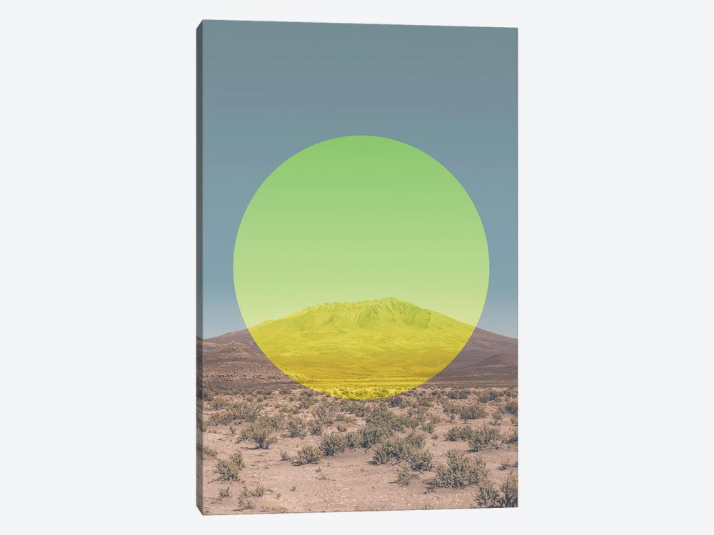 Landscapes Circular 1  Salar de Uyuni (Yellow Circle) by Joe Mania 1-piece Canvas Art