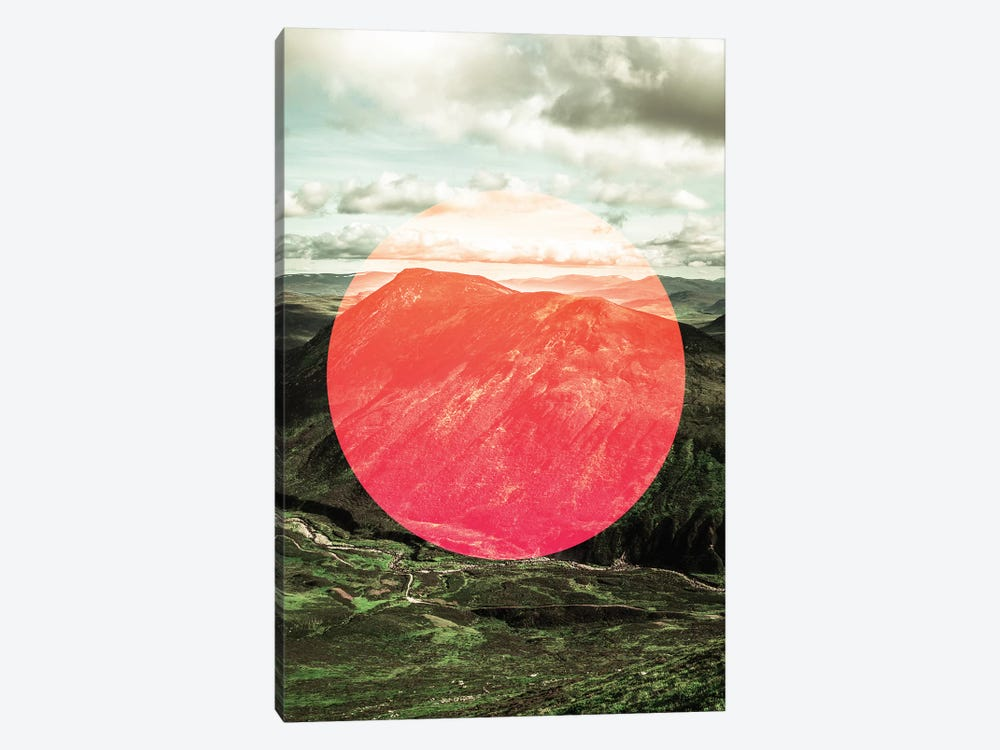 Landscapes Circular 1  Scottish Highlands (Pink Circle) 1-piece Canvas Print