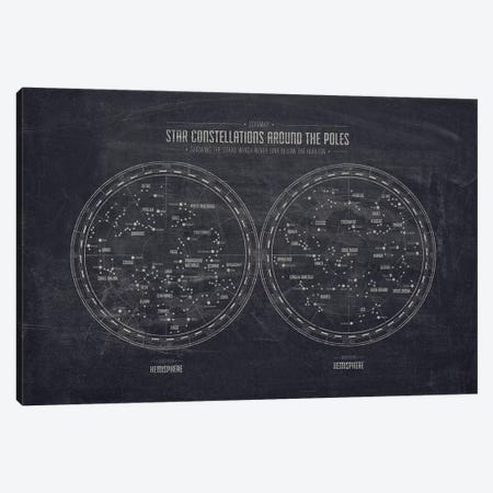 Starmap 1 Dark Canvas Print #NIA93} by Joe Mania Canvas Artwork