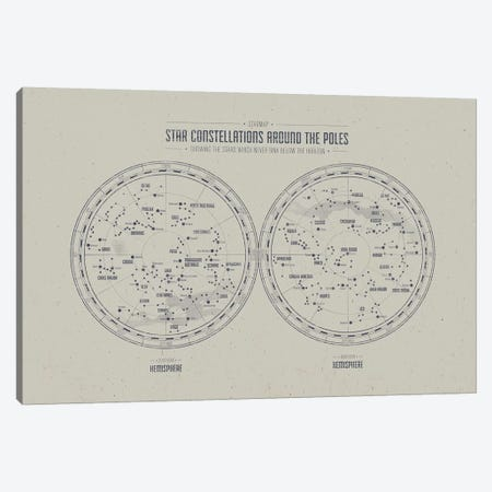 Starmap 1 Light Canvas Print #NIA94} by Joe Mania Canvas Print