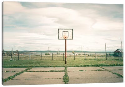 Streetball Courts 1 Puerto Natales, Chile Canvas Art Print