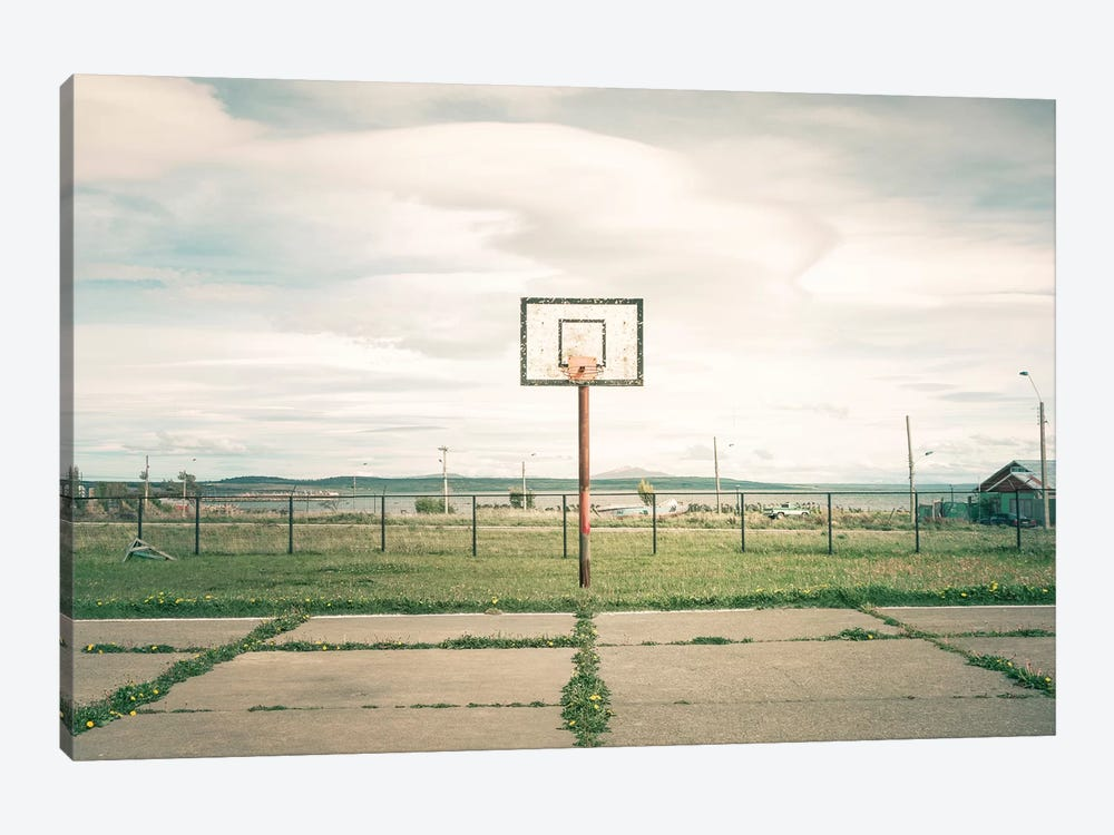 Streetball Courts 1 Puerto Natales, Chile by Joe Mania 1-piece Canvas Art