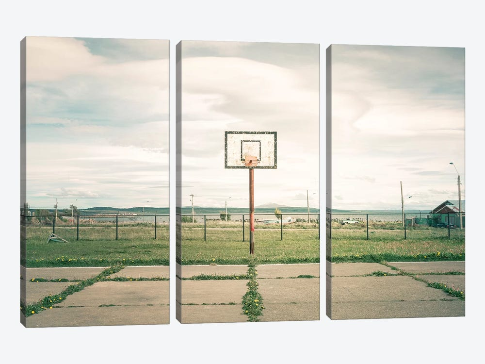 Streetball Courts 1 Puerto Natales, Chile by Joe Mania 3-piece Canvas Wall Art