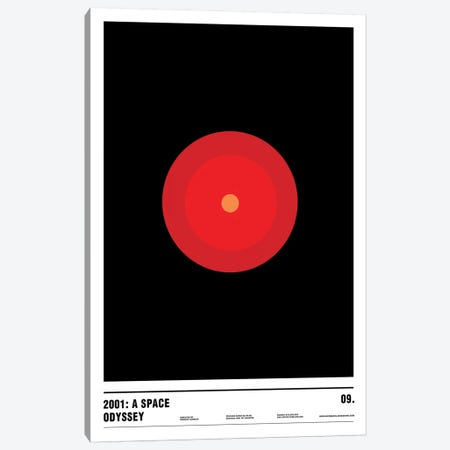 2001: A Space Odyssey Canvas Print #NIB21} by Nick Barclay Canvas Artwork