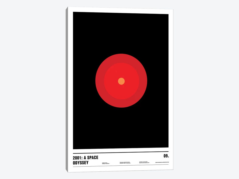 2001: A Space Odyssey by Nick Barclay 1-piece Canvas Art