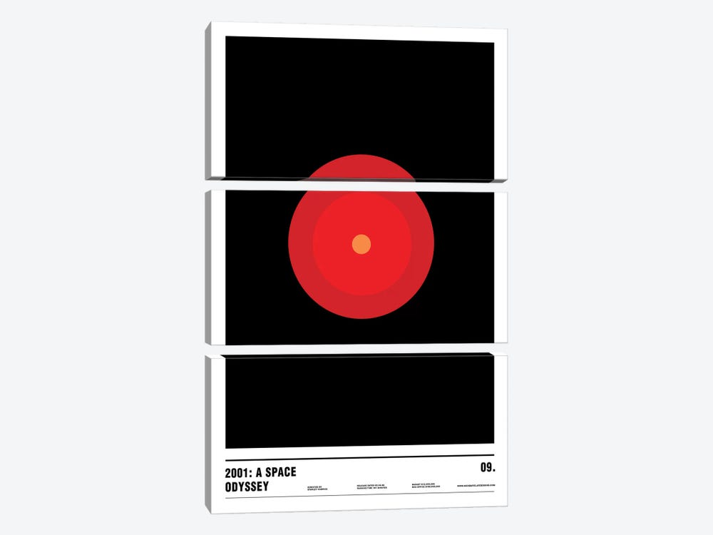 2001: A Space Odyssey by Nick Barclay 3-piece Canvas Artwork