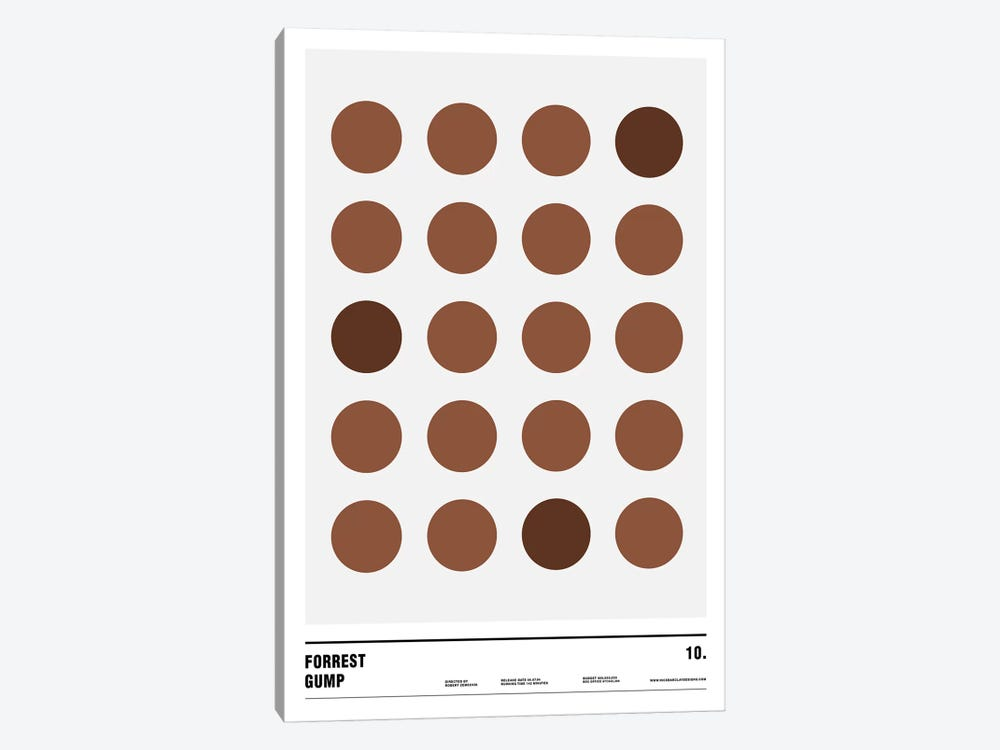 Forrest Gump by Nick Barclay 1-piece Art Print