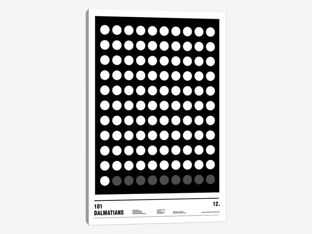 101 Dalmatians by Nick Barclay 1-piece Canvas Art Print