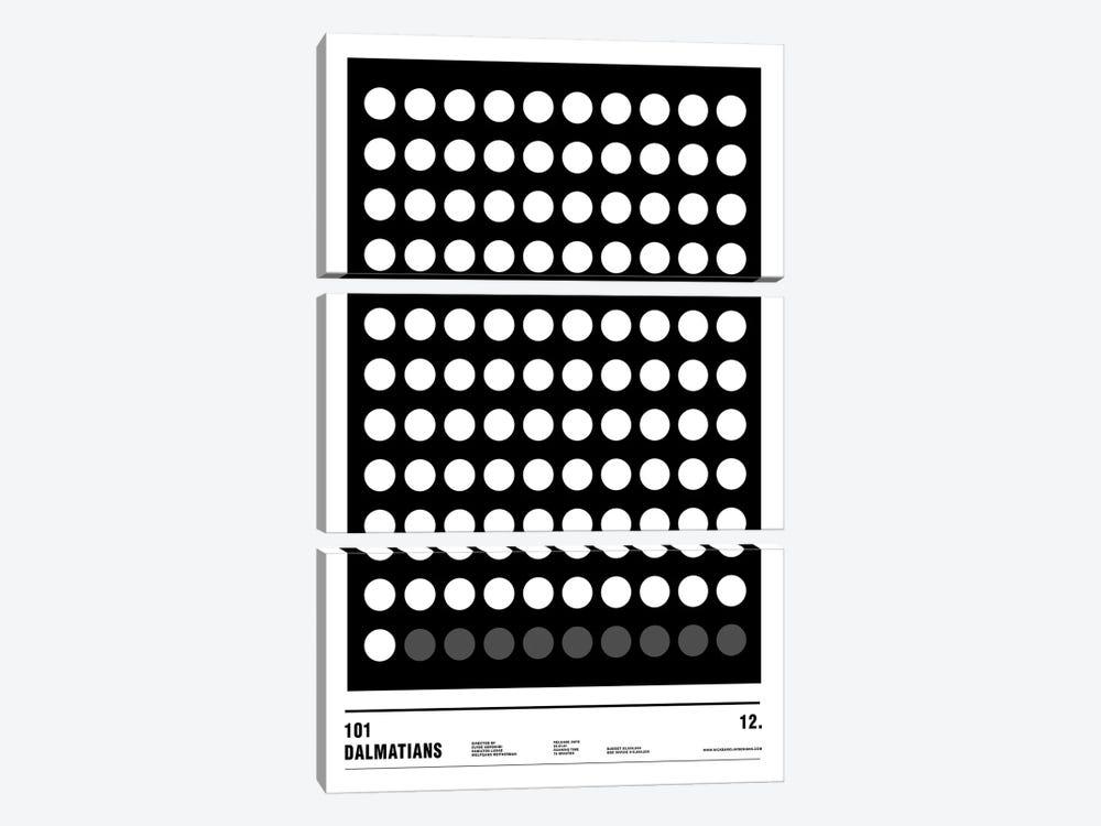 101 Dalmatians by Nick Barclay 3-piece Art Print