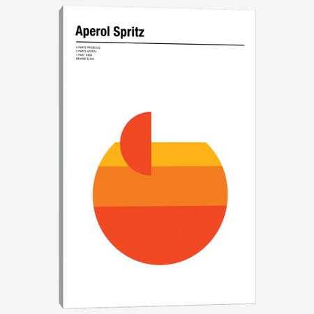 Aperol Spritz Canvas Print #NIB28} by Nick Barclay Canvas Art