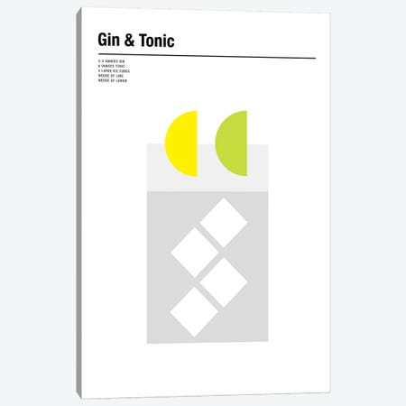 Gin & Tonic Canvas Print #NIB35} by Nick Barclay Canvas Art